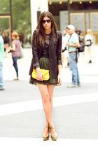 green Leyendecker skirt - green wedges Moschino shoes - black storets blazer