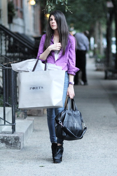 purple Loft blouse - blue James Jeans jeans - purple Senso accessories - purple