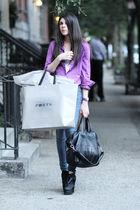 purple Loft blouse - blue James Jeans jeans - purple Senso accessories - purple
