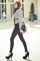 boucle Chanel blazer - riding pants American Apparel leggings - Chanel bag