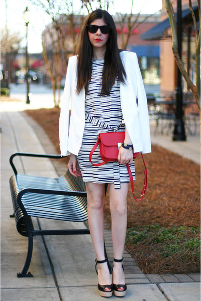 Armani Exchange dress - Armani Exchange blazer - Ray Ban sunglasses - Zara heels