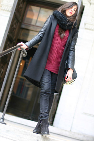 She Inside sweater - Topshop boots - Zara coat