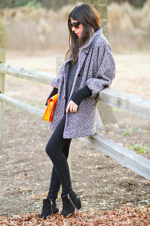 vintage coat - Topshop boots - So Low leggings - cambridge leather satchel bag
