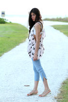 pink sparrow tank GINA TRICOT top - gold grecian sandals kate spade shoes