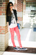 Brashy Couture t-shirt - skinny jeans romwe jeans - HoBo International bag