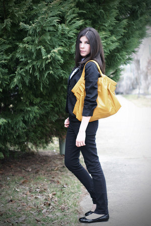 Topshop jeans - Urban Outfitters blazer - melie bianco bag - Salvatore Ferragamo