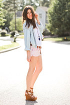 denim One Teaspoon shirt - Elizabeth and James shirt - Amethyst Jeans shorts - C