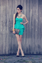turquoise blue Gabriela Faraco necklace - turquoise blue La Bella Mafia dress