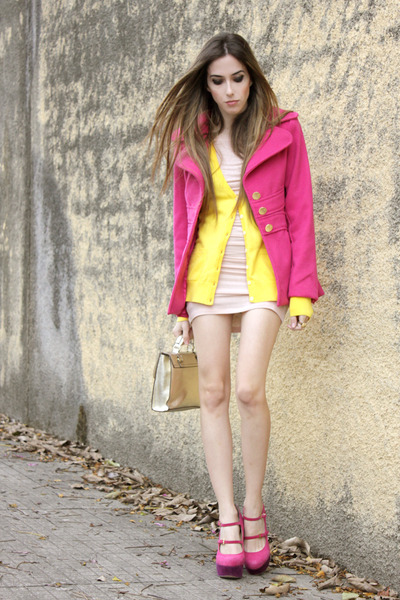 hot pink Ville Rose coat