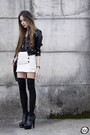 Black-labellamafia-jacket-white-morena-raiz-skirt