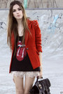 Ruby-red-spike-romwe-blazer-black-slash-store-t-shirt