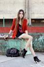 Ruby-red-spike-romwe-blazer-black-slash-store-t-shirt
