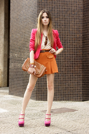 hot pink Brech da Neide blazer - neutral Morena Raiz shirt