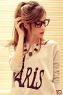 Black-glasses-glasses-periwinkle-natural-colour-jumper