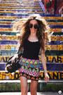 Kafé-bracelet-romwe-sunglasses-carlota-costa-skirt