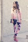 Bubble-gum-lovelysally-leggings-pink-dip-dye-romwe-blazer