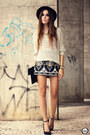 Black-iclothing-skirt-silver-antix-jumper