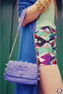 Aquamarine-awwdore-shirt-navy-labellamafia-bag-aquamarine-megagamie-shorts
