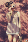 White-angel-skirt-ivory-romwe-sunglasses-light-pink-angel-top