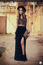 Black-romwe-hat-black-labellamafia-top-black-spikes-kafé-bracelet