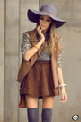 Brown-dutmy-skirt