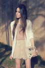 Tan-asos-boots-white-chicwish-blazer-peach-clubcouture-blouse