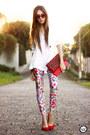 Ruby-red-lovelysally-leggings-white-displicent-blazer