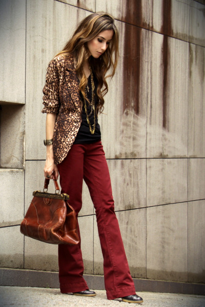ruby red Marisa pants - brown romwe blazer