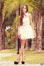 Black-asos-shoes-white-romwe-dress