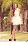 Black-asos-shoes-white-romwe-dress