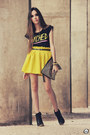 Yellow-romwe-skirt