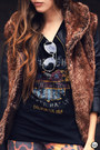 Black-boda-skins-jacket-dark-brown-displicent-leggings
