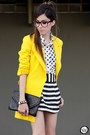 White-espao-1098-shirt-yellow-romwe-coat-black-espao-1098-skirt
