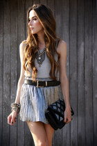 silver Slash Store skirt - black Sheinside jacket