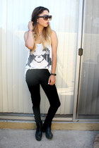 tank top LOVE JUNKEE shirt - ankle boots Tarte Vintage boots