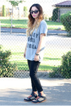 cotton Urban Outfitters t-shirt - disco pants Tarte Vintage leggings