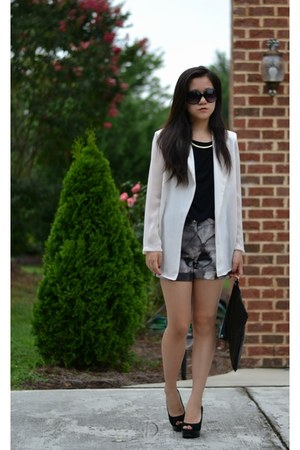 Yesstyle blazer - American Apparel bag - ted baker shorts