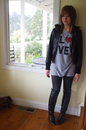 Target Australia jacket - CKM dress - Ebay jeans - vintage shoes