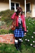 Sportsgirl jacket - cotton on dress - cotton on sunglasses - Self Made skirt