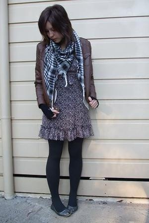 Target dress - Big W jacket - Target tights - Elle Effe shoes