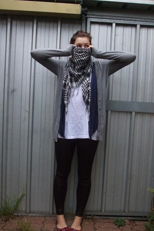 Pink Blue scarf - Sportsgirl jacket - Femme Connection vest - supre top - Sports