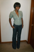 Charlotte Russe blouse - forever 21 pants