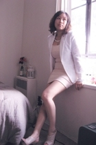 H&M blazer - H&M dress - Aldo shoes - fairfax flea market necklace