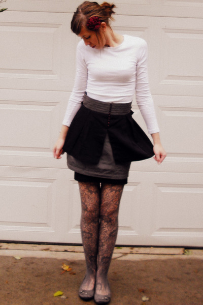 Forever 21 shirt - twelve by twelve skirt - Forever 21 skirt - Forever 21 tights