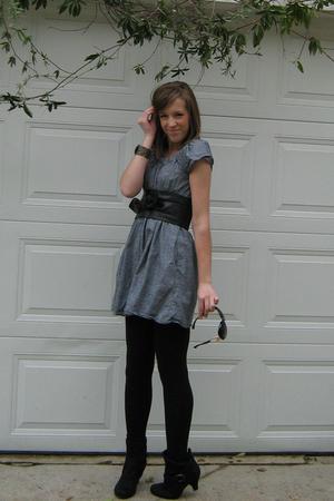 Forever 21 dress - Forever 21 belt - Forever 21 bracelet - Forever 21 leggings -