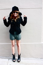 Topshop shorts - Emma Cook x TOPSHOP shoes - Zara jacket - vintage hat
