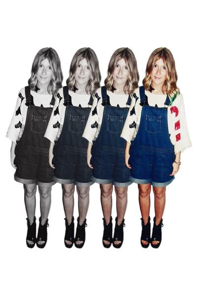 vintage romper - vintage top - Emma Cook x TOPSHOP heels