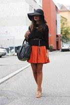 H&M hat - H&M dress - H&M sweater - Zara loafers