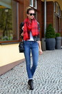 Black-topshop-shoes-black-sheinside-jacket-ruby-red-h-m-scarf