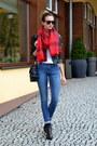 Black-topshop-shoes-black-sheinside-jacket-ruby-red-h-m-scarf